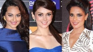 Sonakshi, Aditi, Richa at Global Indian Music Awards 2014 | Honey Singh, Asha Bhosle