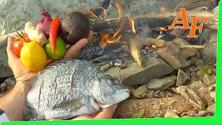 On Fire Catch and Cook Sea Bream Fish Gummy Worms / Snake Lollie Fishing Challenge EP.360