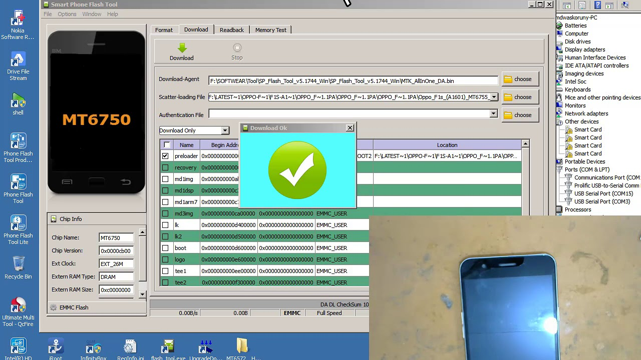 Oppo F1s A1601 MT6755 Pattern Lock Remove Done Without box 1000% tested me  update 2018