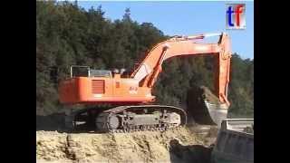 Hitachi Zaxis 500LC, CAT D6R XL, Mercedes Dump Trucks ... / A 8, Wimsheim, Germany, .