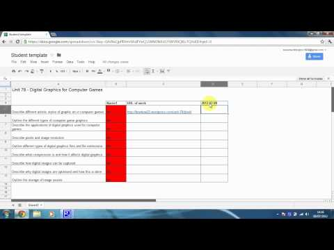 How to add a Timestamp (time stamp) in Google Docs Spreadsheet - The easy way