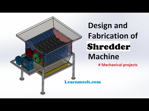 Shredder machine - Paper , Plastic , Metal, Agricultural waste Shredder | Mechanical Project