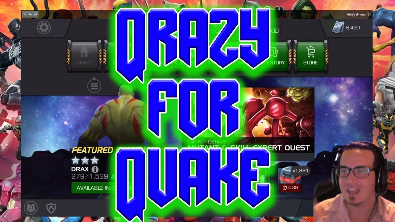 QRAZY for QUAKE!!! December's Login Crystal | Marvel Contest of Champions
