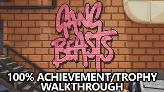 Gang Beasts - 100% Achievement/Trophy Walkthrough (Xbox One & PS4) - All Achievements/Trophies