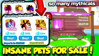 I Bought INSANE MYTHICAL PETS In Pet Simulator X From The TRAVELING MERCHANT!! (Roblox)
