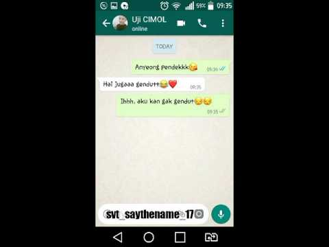 Fake chat woozi [Indonesia]