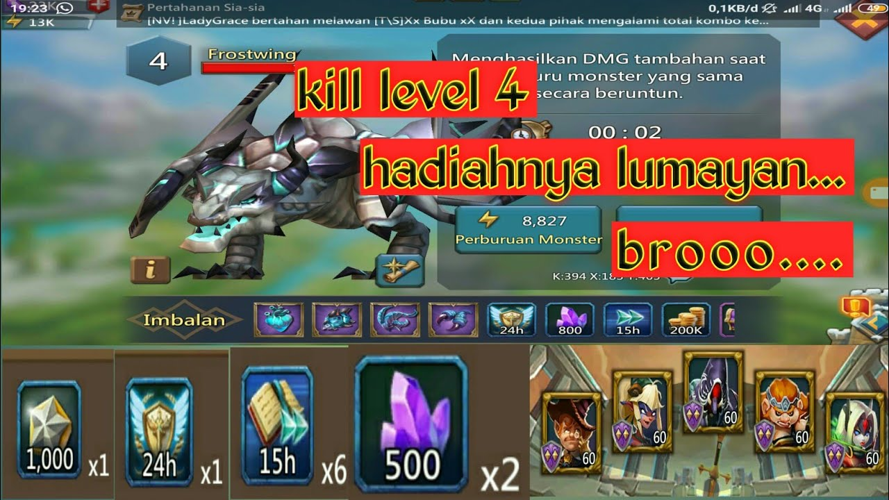 Kill monster frostwing level 4