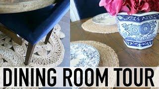 DINING ROOM TOUR // DECORATING IDEAS // RUSTIC CHIC