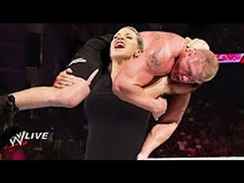 Download Brock Lesnar vs Stephanie McMahon ~ OMG Brock nearly killed Stephanie