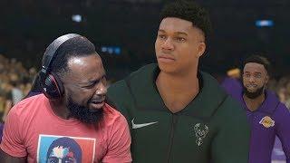 Awkward Exchange w/ Giannis Antetokounmpo | Lakers vs Bucks NBA 2K19 MyCareer Ep 36