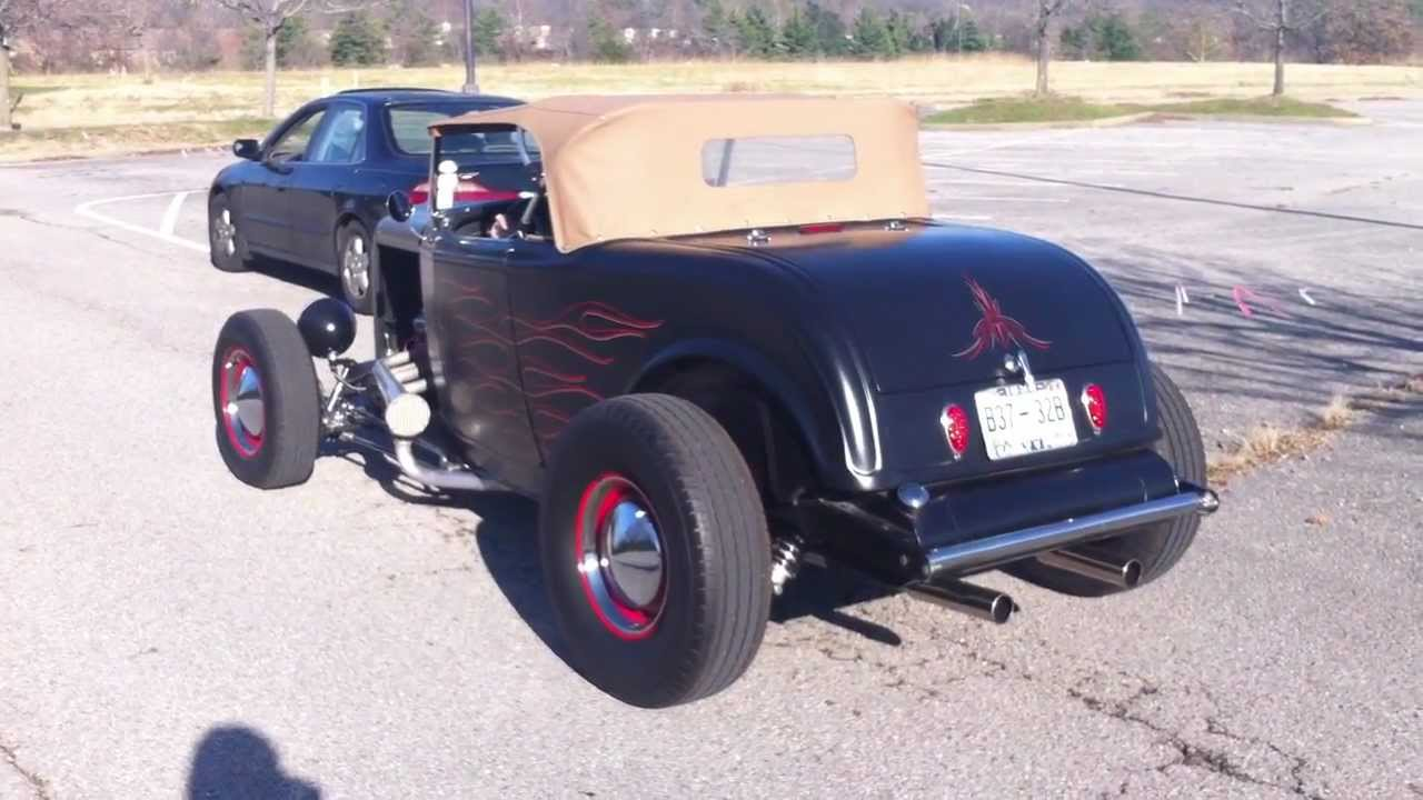 Cj 7 For Sale >> Drive Up of 1932 B Ford Bonneville Salt Flat Style Roadster Hot Rod For Sale - YouTube