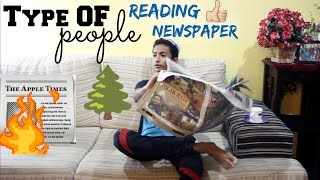 Type Of People Reading Newspaper