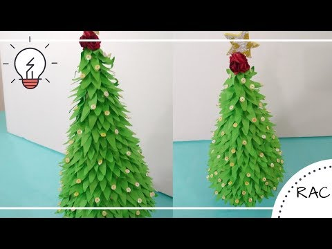 How To Make Christmas Tree | DIY Christmas Tree With Paper | Recycled Arts And Crafts - 96
