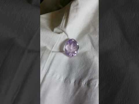 Faceted High Energy Light Purple Amethyst #003