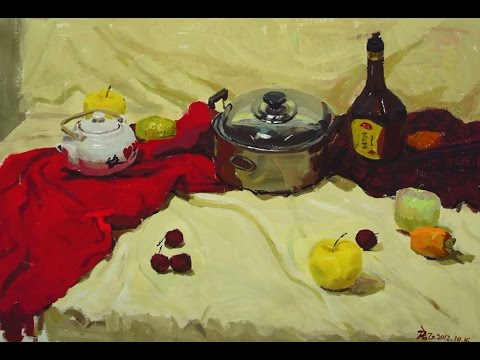 how to paint still life step by step