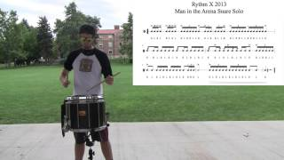 Drum Lick of the Week #24 Rhythm X Man in the Arena Snare Solo
