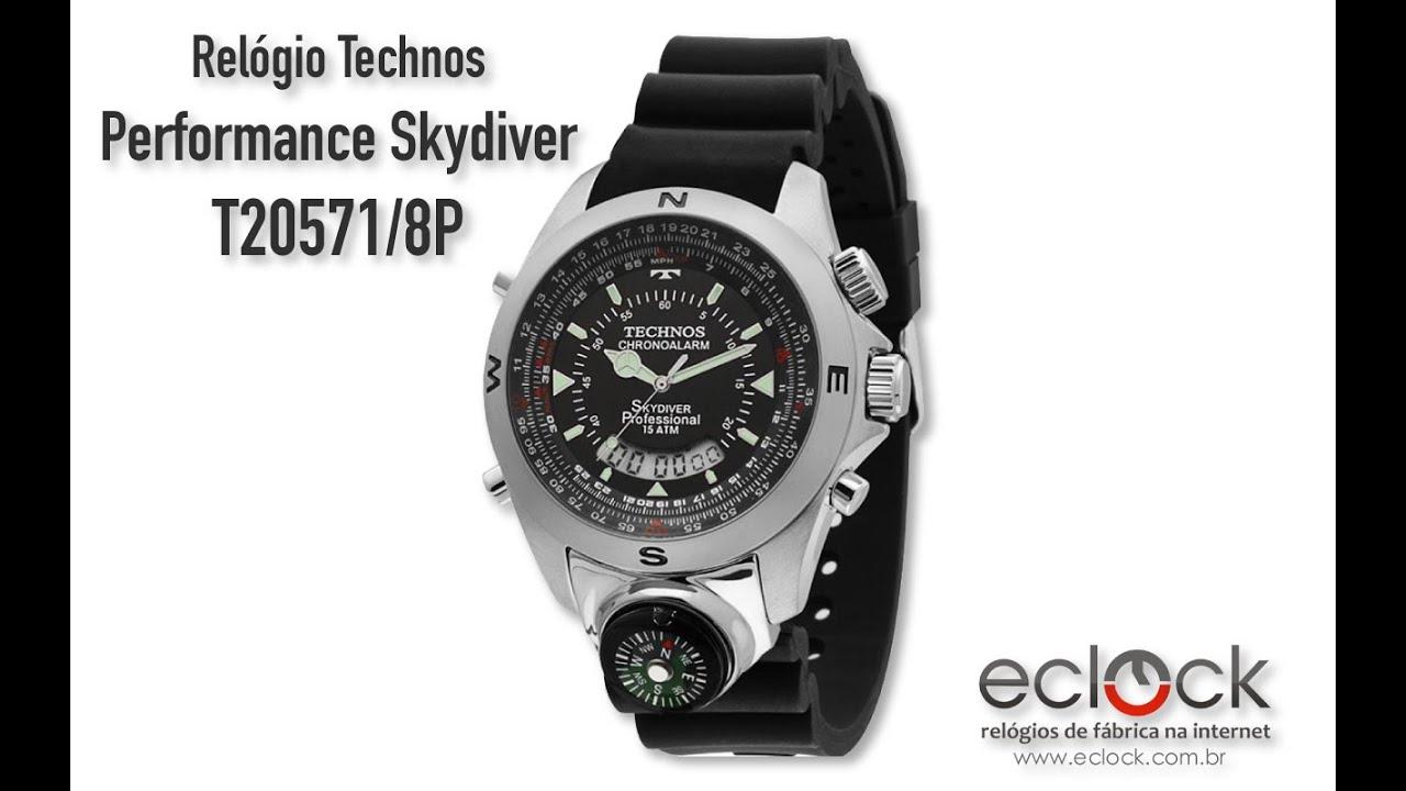 918d057add28e Relógio Technos Masculino Performance Skydiver T20571 8P - Eclock by ...