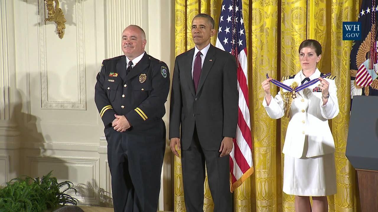 President Obama Awards Medal of Valor to SMC Police Captain