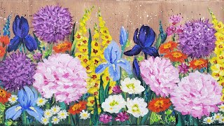 Easy Impressionist Flower Garden Acrylic Painting LIVE Tutorial