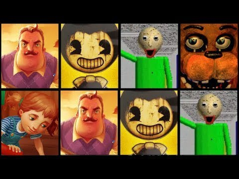 Hello Neighbor,Bendy,Baldi's Basics,Five Nights at Freddy's 2,Granny,Slender Man,Evil Nun