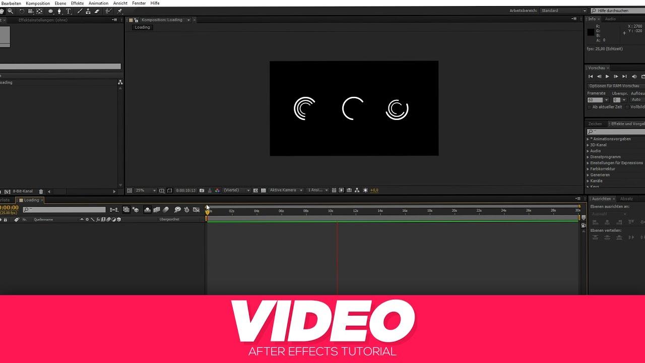 LOADING ANIMATION ERSTELLEN   AFTER EFFECTS   KBDESIGNZ - YouTube
