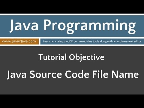 Learn Java Programming - Source Code File Names