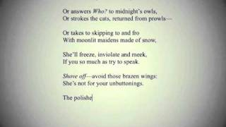 """Marly Youmans reads """"A Fire in Ice"""" from THE THRONE OF PSYCHE"""