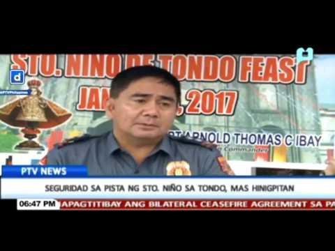 Seguridad sa Pista ng Sto. Niño sa Tondo, Manila, mas hinigpitan