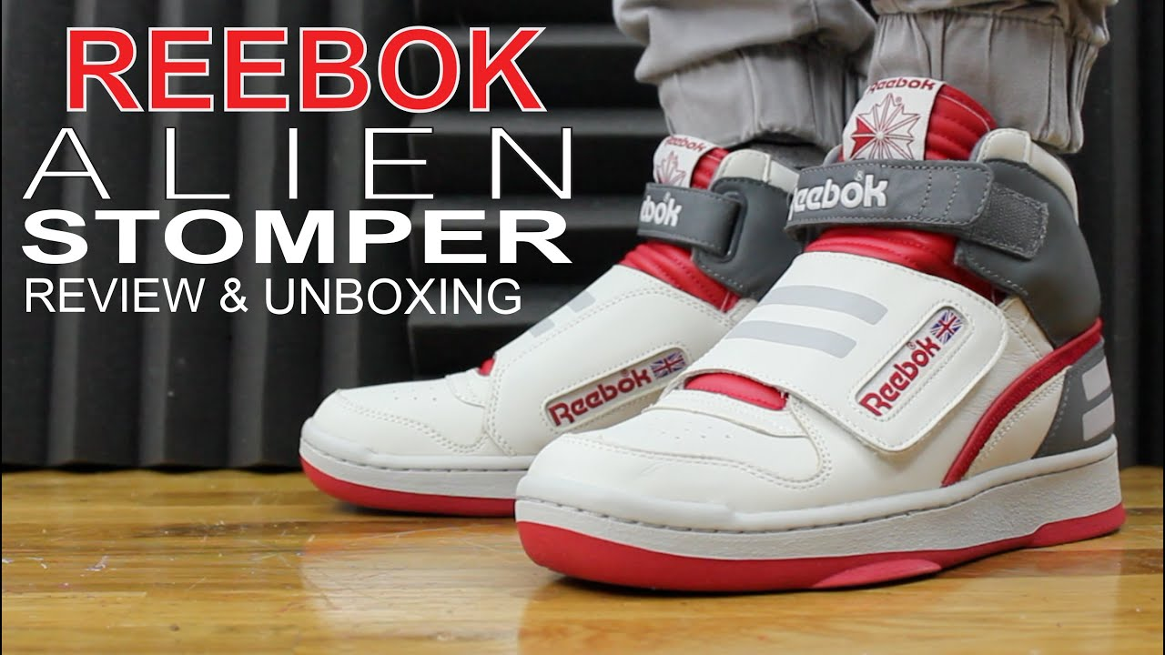 0738fd610d9c43 REEBOK ALIEN STOMPER MID REVIEW AND UNBOXING - YouTube
