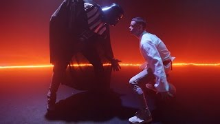 Luke Skywalker vs Darth Vader Basketball