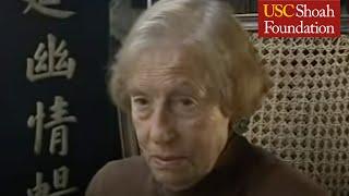 War Crimes Trials Participant Edith Coliver Testimony