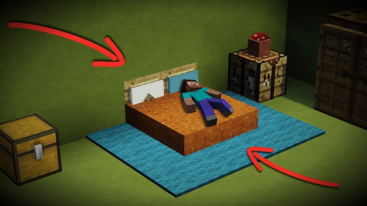 How To Make A New Minecraft Bed Design Sleep Lay Down