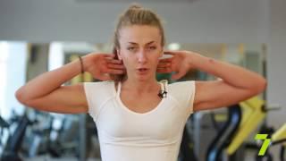 Зарядка с KADORR Fitnes Tairova. Упражнения на пресс стоя. Яна Калинская