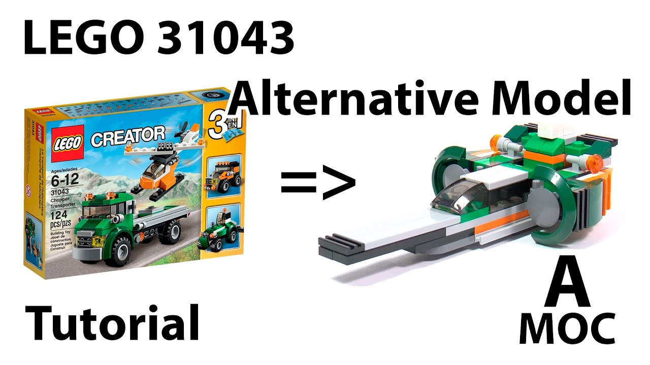 Tutorial Lego 31043 Alternative Build Spaceship Moc Instruction