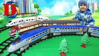 Поезда для детей Мультики про Виды железнодорожного транспорта Поезд Обзор игрушки Железная дорога