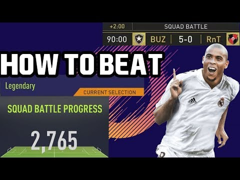 HOW TO BEAT DOMINATE LEGENDARY - SQUAD BATTLES - FIFA 18