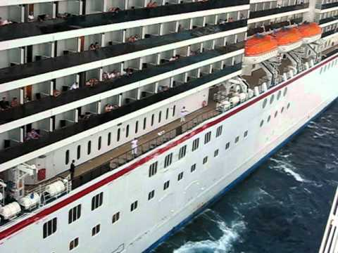 Carnival Legend crashes into Royal Caribbean Enchantment of the Seas Part 4 Cruise Ships Crash