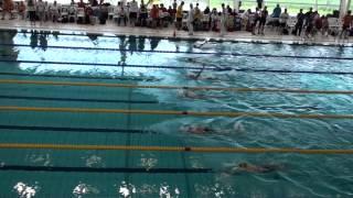 Anne Schuurmans 2e op  100 meter Rugslag Speedo jaargangfinale   2012