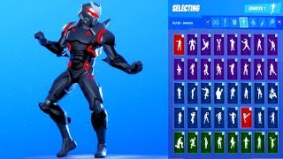 *UPDATE* Fortnite OMEGA Stage 5 Red Skin Showcase with All Dances & Emotes *Subscriber Request*