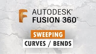 Curves and Bends in Fusion 360 - Extrude Along Path