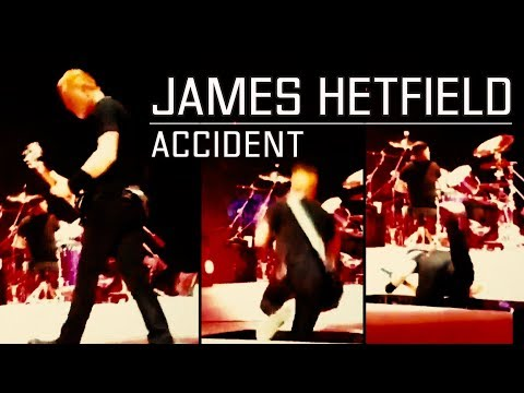 WITNESS: James Hetfield from Metallica - Falls / Accident in Ziggo Dome, Amsterdam