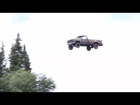 Launching Cars Off a Cliff for 4th of July, Alaska Reality NO Hollywood Drama