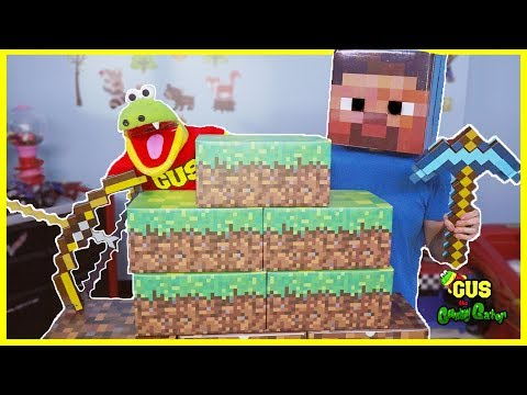 Minecraft IRL! Mining For Surprise Toys Hunt With Steve Enderman And Creeper
