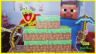 Minecraft In Real Life Mining for Surprise Toys Hunt  Steve Enderman Creeper thumbnail
