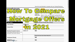 How To Compare Mortgage Offers in 2020