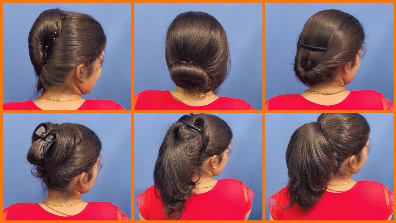 anjali's bun hairstyles part 22   6 different bun hairstyles   hairstyle tutorial