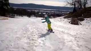 Наши ученики после базовой программы обучения катанию на сноуборде г. Тольятти