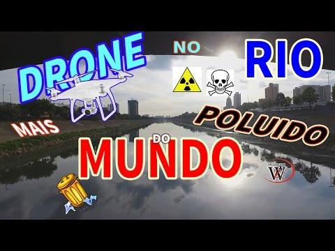 DRONE FILMA RIO MAIS POLUIDO do MUNDO LIXÃO wanzam fpv