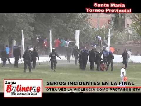 Santa María: Serios incidentes en la final del Provincial