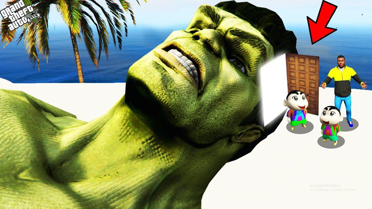 Download GTA 5 : Shinchan Enter Inside Hulk's Head In GTA 5 ! (GTA 5 mods)